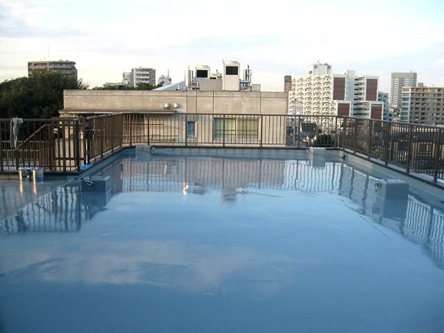 屋上の防水加工工事